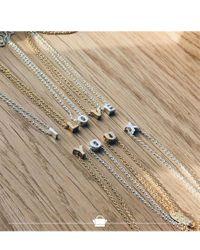 Orelia - Multicolor Necklace Initial V - Lyst
