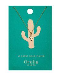 Orelia - Metallic Cactus Ditsy Necklace - Lyst