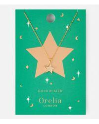 Orelia   Metallic Chunky Star Charm Necklace   Lyst
