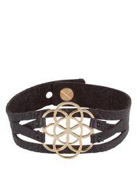 MYOMY - Black Flower Of Life Bracelet - Lyst