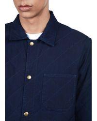 A.P.C. - Blue Cole Overshirt for Men - Lyst
