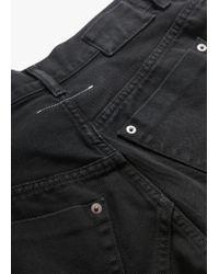 MM6 by Maison Martin Margiela - Black Offset Front Closure Jeans - Lyst