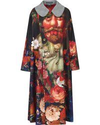Comme des Garçons - Natural Peter Pan Collar Printed Long Coat - Lyst