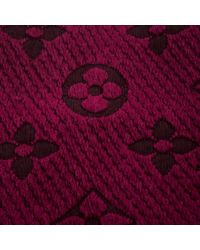 Louis Vuitton - Purple Chunky Knit Wool And Silk Logomania Muffler - Lyst