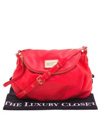 Marc By Marc Jacobs - Red Neon Leather Classic Q Natasha Crossbody Bag - Lyst