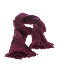 Louis Vuitton - Purple Chunky Knit Wool And Silk Logomania Muffler - Lyst