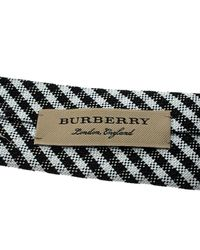 Burberry - Multicolor Monochrome Gingham Checked Stanfield Skinny Tie for Men - Lyst