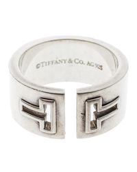 Tiffany & Co - Metallic T Cutout Open Band Ring - Lyst