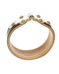 Louis Vuitton - Brown Save It Monogram Canvas Wide Cuff Bracelet 16cm - Lyst