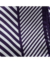 Tom Ford - Purple And White Diagonal Striped Silk Pocket Square for Men - Lyst