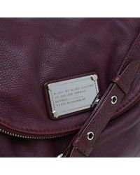 Marc By Marc Jacobs - Red Burgundy Leather Classic Q Natasha Crossbody Bag - Lyst