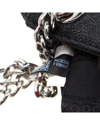 MICHAEL Michael Kors Black Signature Coated Canvas Jet Set Travel Chain Shoulder Bag