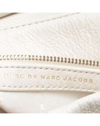Marc By Marc Jacobs - White Leather Classic Q Lil Ukita Top Handle Bag - Lyst