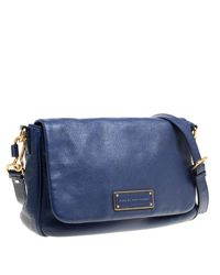 Marc By Marc Jacobs - Blue Glazed Leather Too Hot To Handle Lea Crossbody Bag - Lyst