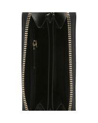 Moschino - Metallic Love Gold Faux Leather Zip Around Wallet - Lyst
