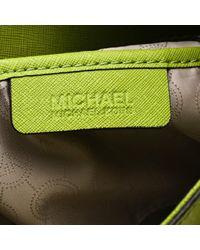 MICHAEL Michael Kors Green Leather East West Hamilton Tote