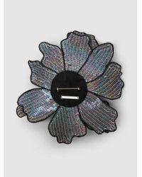 Christopher Kane - Multicolor Bead And Sequin-embellished Flower Brooch - Lyst