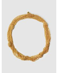 Rosantica - Metallic Penelope Knotted Gold-tone Chain Necklace - Lyst