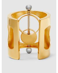 Monica Sordo - Metallic Silencio Gold And Silver-tone Cuff - Lyst