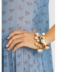 Erickson Beamon | Metallic Gold-plated Pearl Bracelet | Lyst