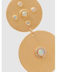 Ileana Makri - Metallic Gold-plated Sapphire And Opal Earrings - Lyst