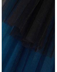Razan Alazzouni - Blue Two-tone Layered Tulle Jacket - Lyst