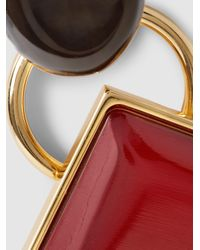 Marni - Metallic Gold-tone Horn Earrings - Lyst