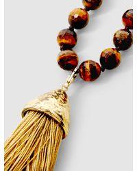 Rosantica | Multicolor Platea Tasseled Agate Necklace | Lyst