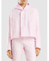 Marni - Pink Cropped Matelassé Jacket - Lyst
