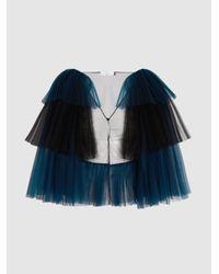 Razan Alazzouni   Blue Two-tone Layered Tulle Jacket   Lyst