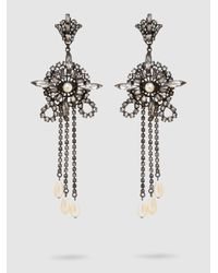 Erickson Beamon | Multicolor China Club Pearl And Crystal Earrings | Lyst