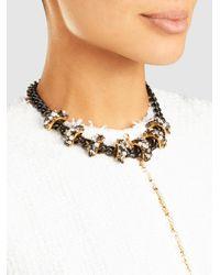 Erickson Beamon - Metallic Life In The Fast Lane Embellished Necklace - Lyst