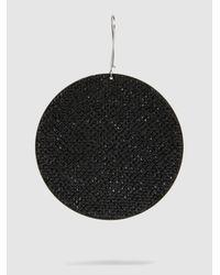 Marc Jacobs - Black Pavé Single Disc Earring - Lyst