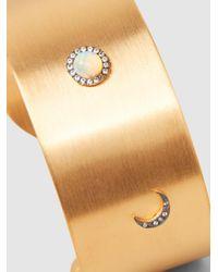 Ileana Makri - Metallic Gold-plated Opal And Sapphire Cuff - Lyst