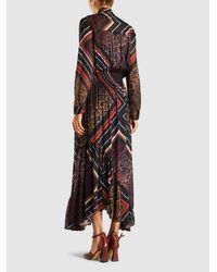 Preen Line - Multicolor Elva Printed Pleated Georgette Maxi Dress - Lyst