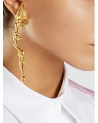 Annelise Michelson | Metallic Gold Plated Lava Earrings | Lyst