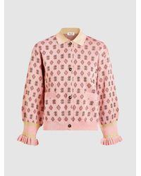 Baum und Pferdgarten | Pink Caresse Rose Patterned Cardigan | Lyst
