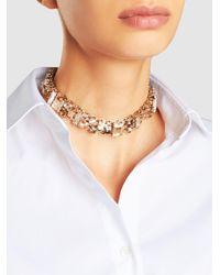 Lanvin | Metallic Gold-plated Crystal Choker | Lyst