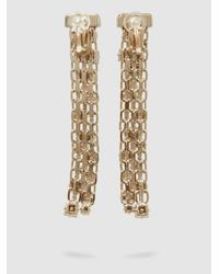 Lanvin - Metallic Crystal-embellished Gold-plated Earrings - Lyst
