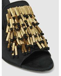 Sanayi 313 - Black Alberetta Fringed Grosgrain Sandals - Lyst