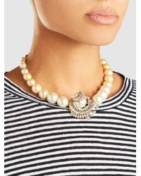 Erickson Beamon - Metallic Delicate Balance Embellished Gold-plated Necklace - Lyst