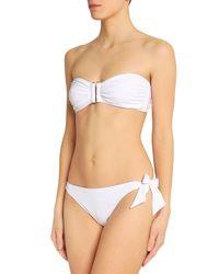 Iris & Ink - Woman Riley Ruched Bandeau Bikini White - Lyst