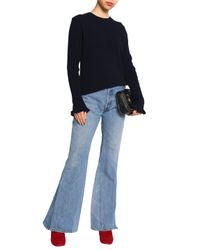 MiH Jeans - Blue Ribbed Cashmere And Merino Wool-blend Sweater - Lyst