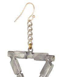 Lulu Frost - Metallic Empire Oxidized Silver-tone Crystal Earrings - Lyst
