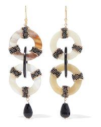 Rosantica White Martini Gold-tone, Resin And Bead Earrings