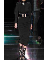 Balmain - Black Stretch-jersey Bodysuit - Lyst