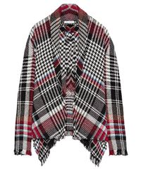 Oscar de la Renta - Black Frayed Checked Cotton-blend Tweed Jacket - Lyst
