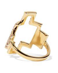Elizabeth and James - Metallic Kota Gold-tone Crystal Ring - Lyst