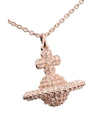 Vivienne Westwood Anglomania - Metallic Grace Rose Gold-tone Crystal Necklace - Lyst