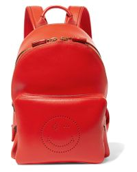 Anya Hindmarch - Red Perforated Leather Backpack - Lyst